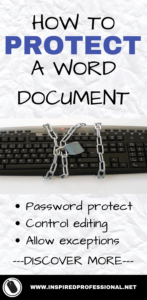 How to protect a Word document