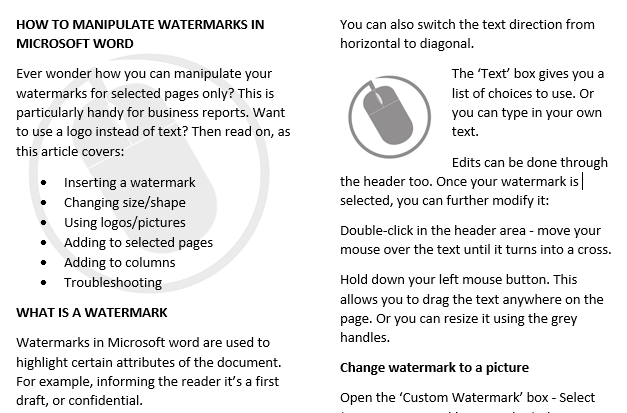 2 columns watermark example