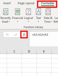 Insert function shortcut