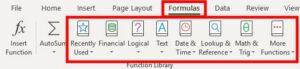 group formulas located in formulas tab