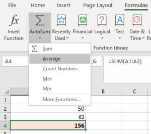 editing excel formula
