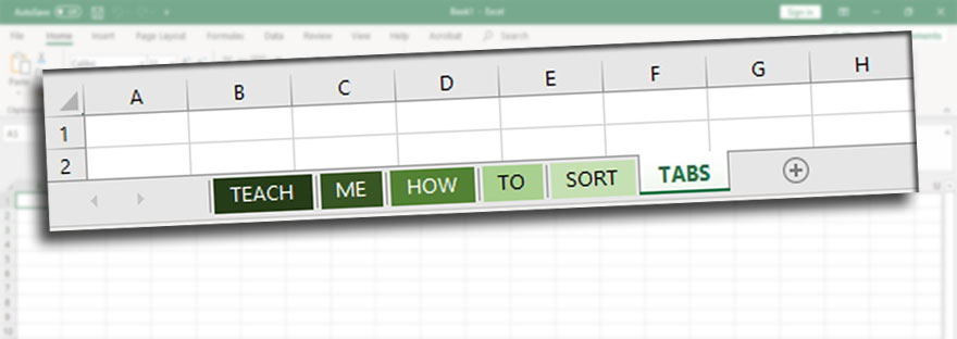 How to Sort Tabs in Excel