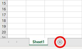 how to add an excel tab