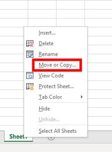 how to copy an excel tab