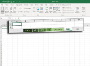 How to organize tabs in excel