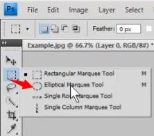 Photoshop elliptical tool