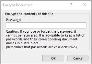 Encrypt Word document with password