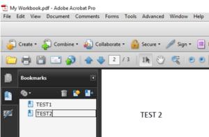 Naming PDF Bookmarks