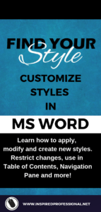 Customise styles in MS Word