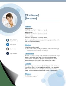 Resume template example - Microsoft Word