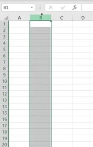 Selecting Whole Column in Excel