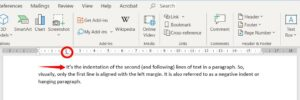 Using tab indent