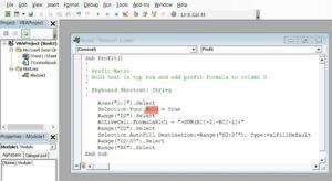 Edit Macro code in VBA