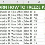 QUICK TIP: HOW TO FREEZE THE TOP ROW IN EXCEL & SPLIT WINDOW