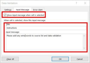 Setting up cell instructions